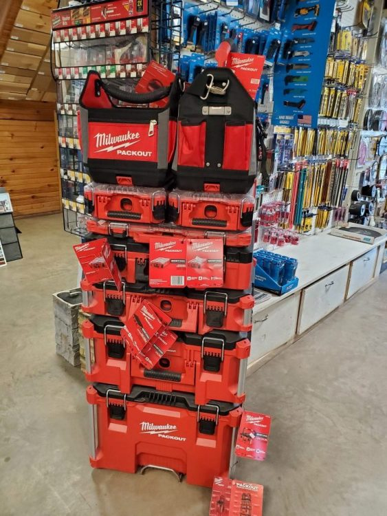 Milwaukee tools at G&W Lumber in Accident Maryland