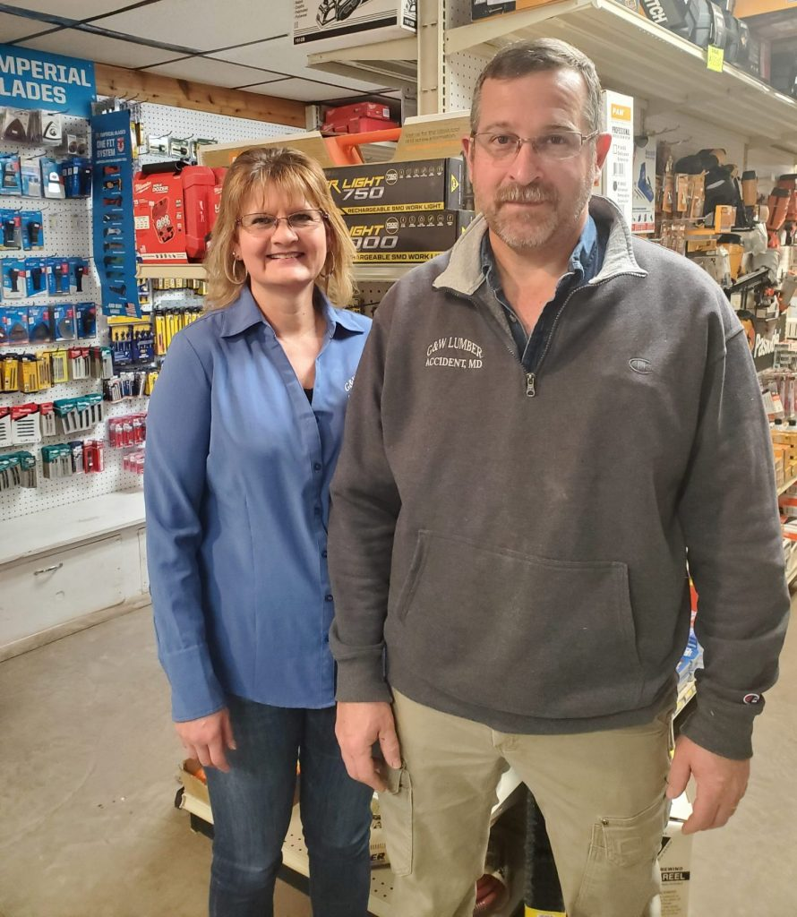 G&W Lumber owner Brian and Tammy Opel in Accident Maryland